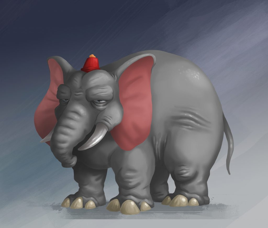 Elephant Game Character Design
