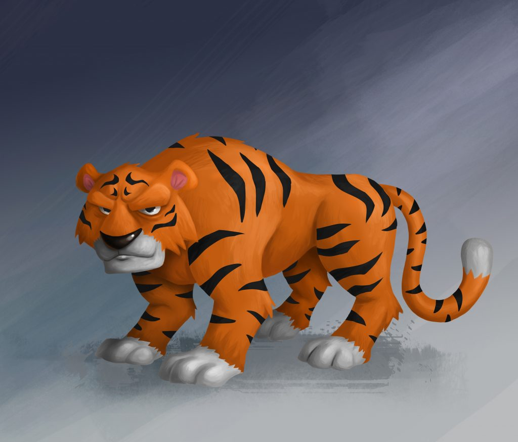 Tiger Game Character Design