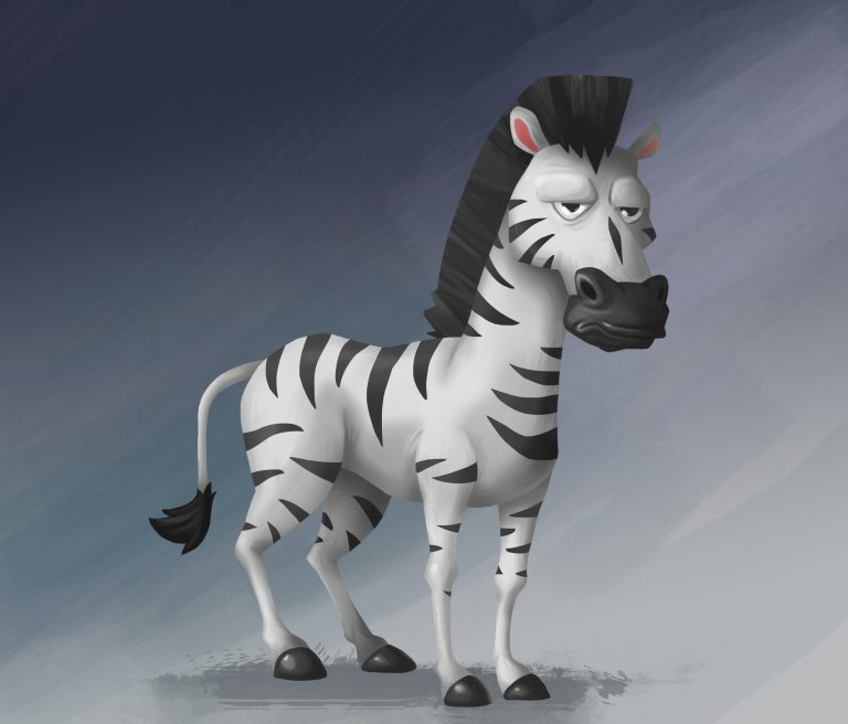 Zebra Game Character Design