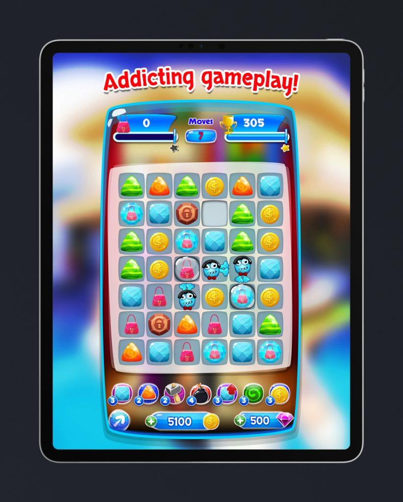Match 3 Mobile Game Art Design