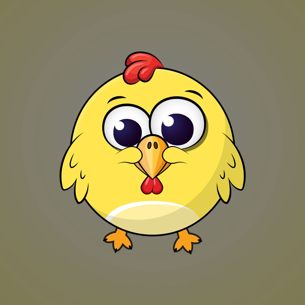 Chicken Minimal Vector Character Design For A Casual Mobile Game