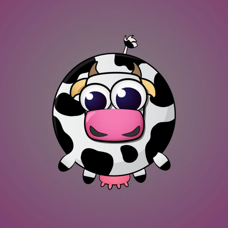 Cow Minimal Vector Character Design For A Casual Mobile Game