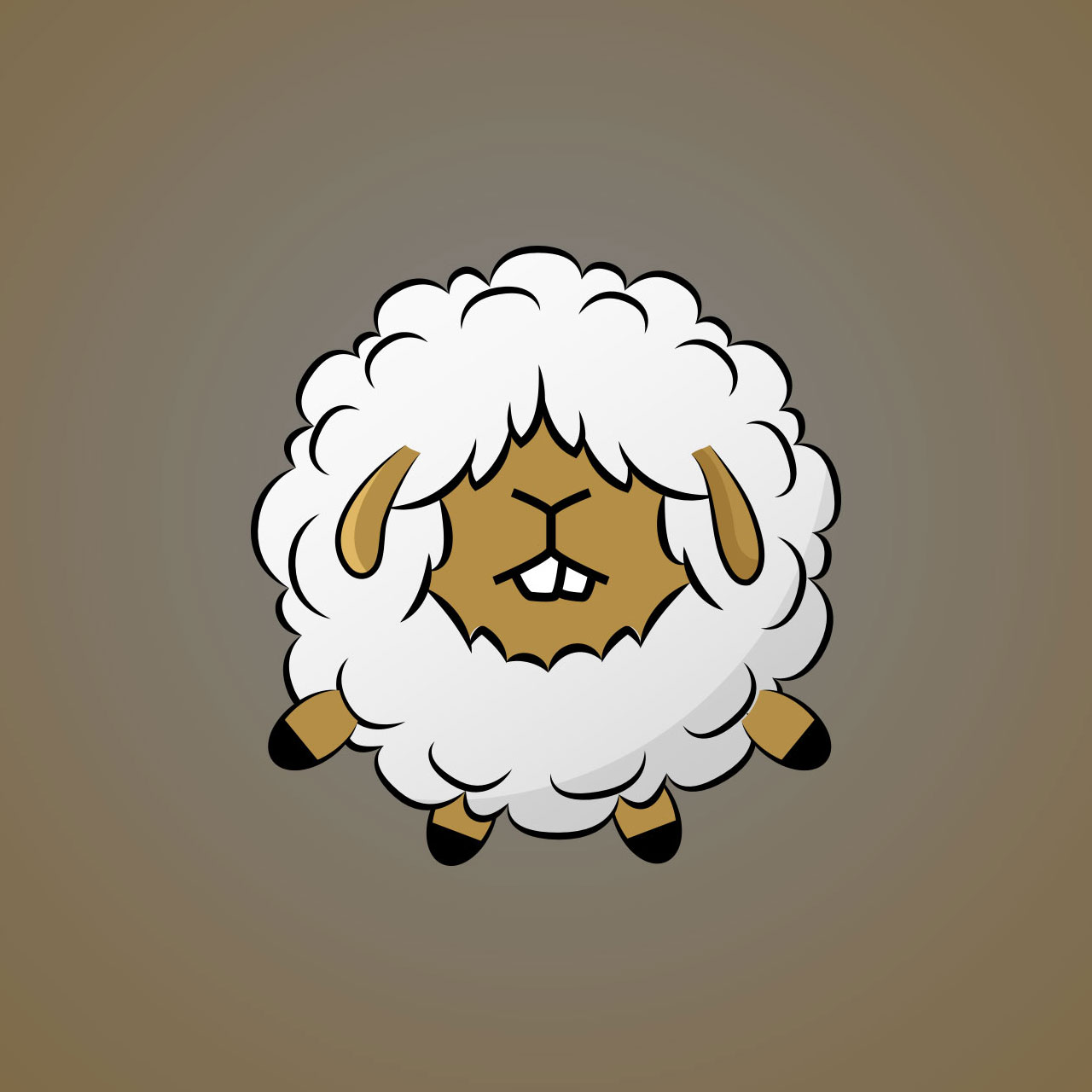 Sheep Minimal Vector Character Design For A Casual Mobile Game