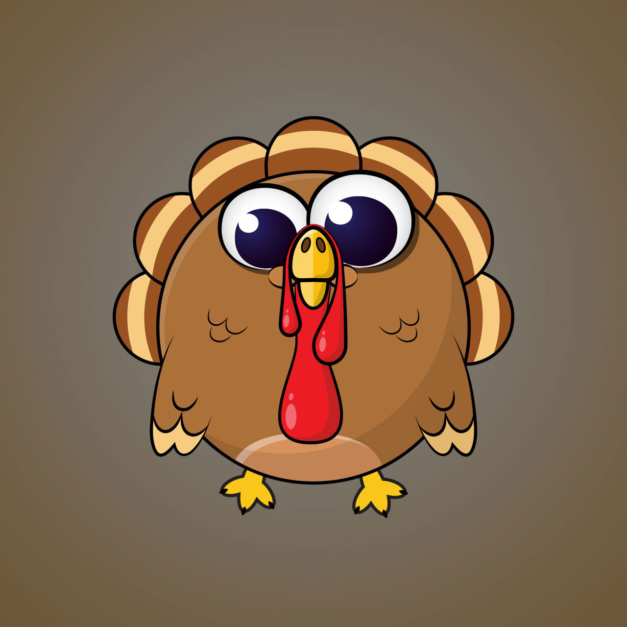 Turkey Minimal Vector Character Design For A Casual Mobile Game