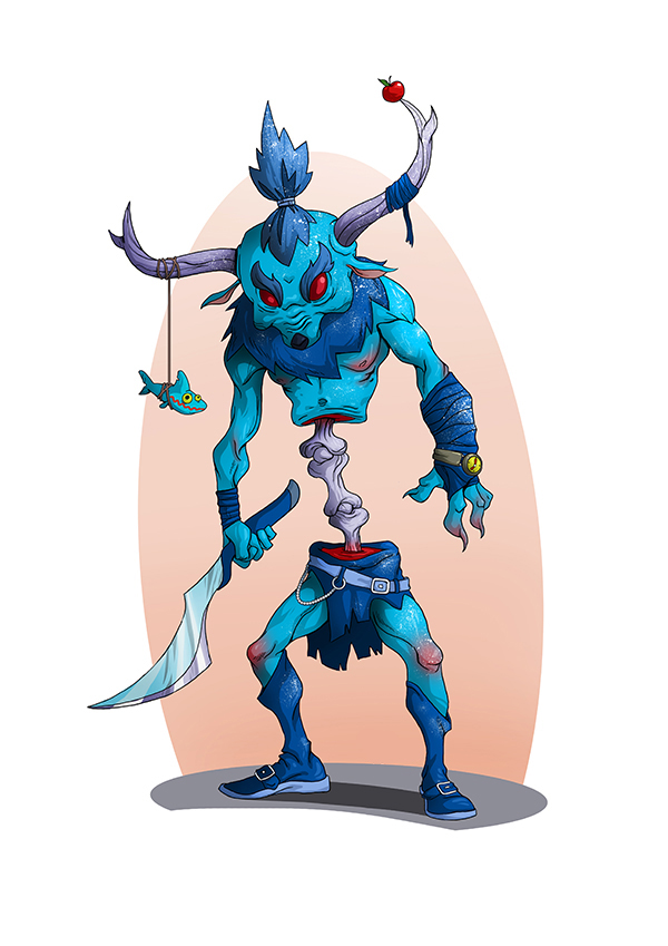 Zombie Demon Monster 2D Illustration