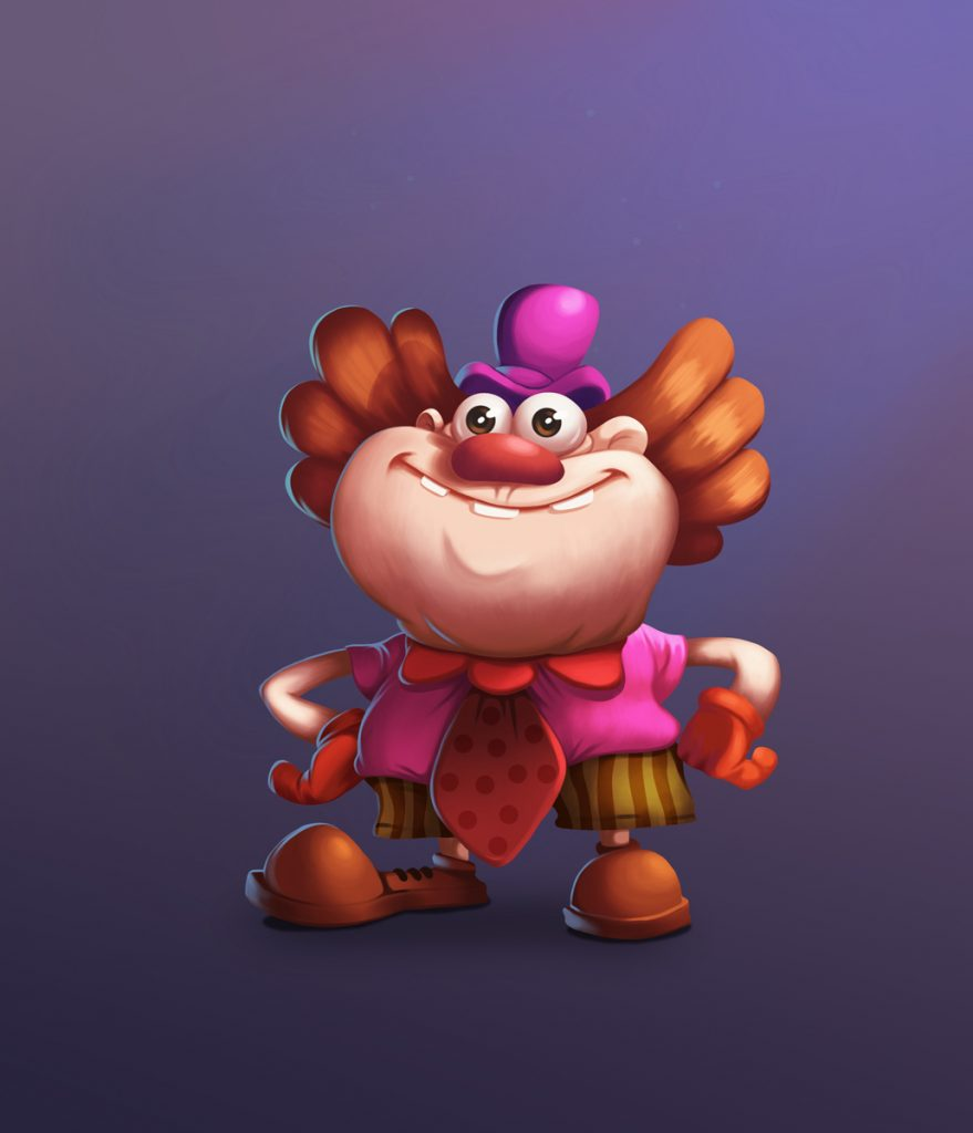 Fat Clown 2D Game Character Design