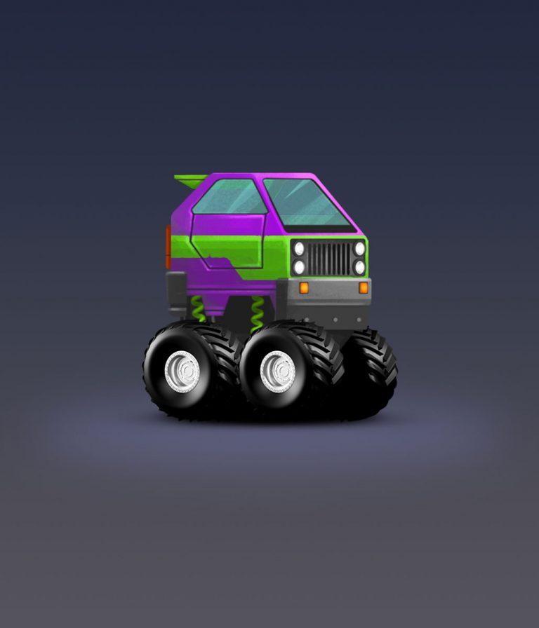 Funcky Jeep Minimalist Design Game Car Design