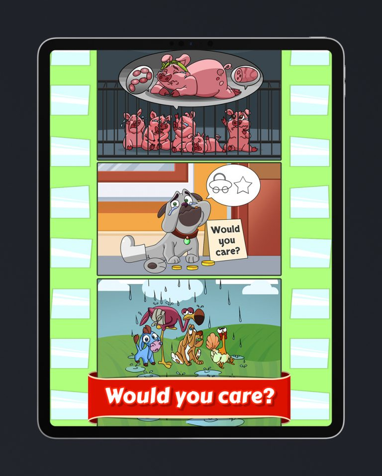 Casual Mobile Game About Saving Animals (Dog, Pig and Other Animals) - Game Art