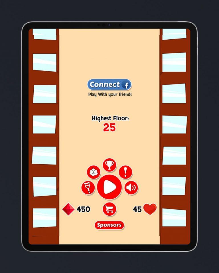 Casual Game Flat UI Design - Main Menu