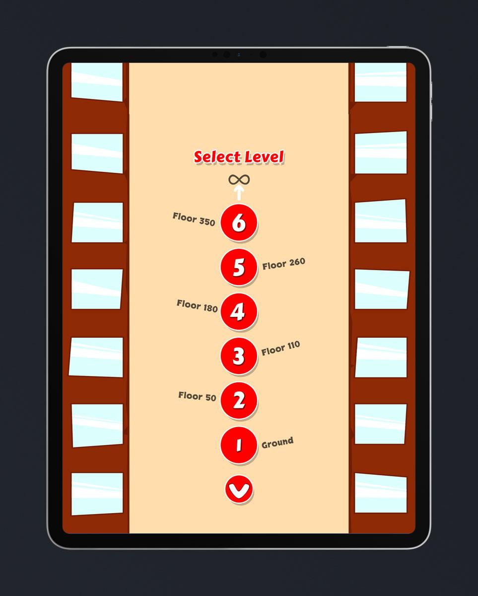 Casual Game Flat UI Design - Select Level Menu