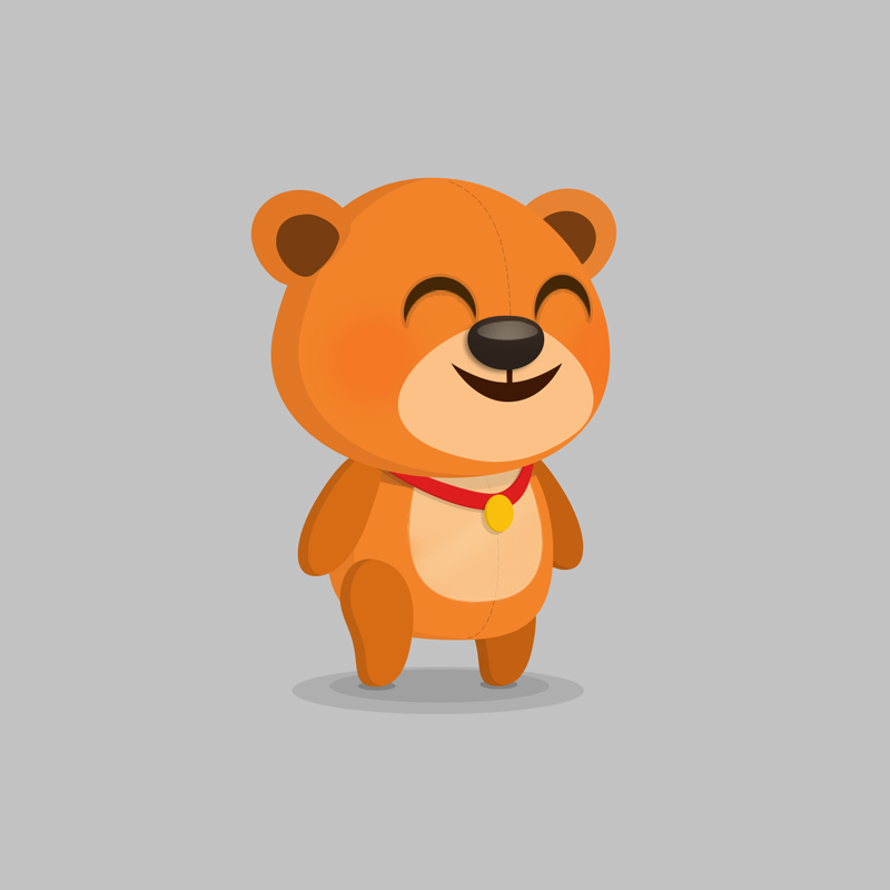 Bear - Children's educational game vector character design