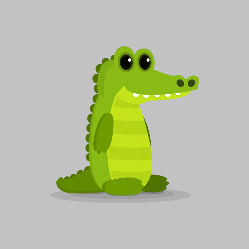 Alligator - Children's educational game vector character design
