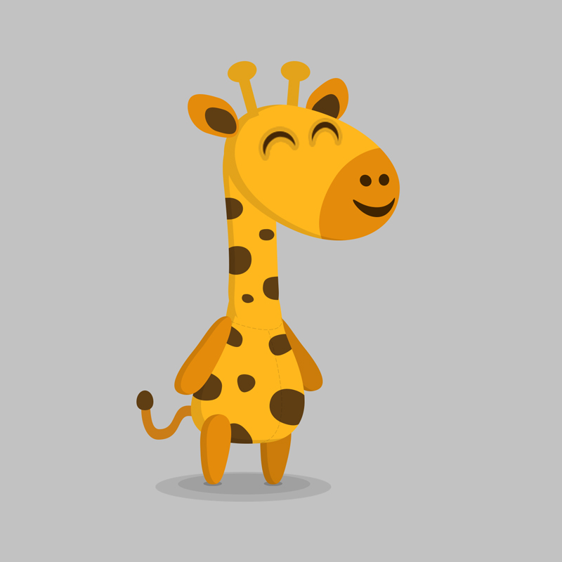 Giraffe - Children's educational game vector character design
