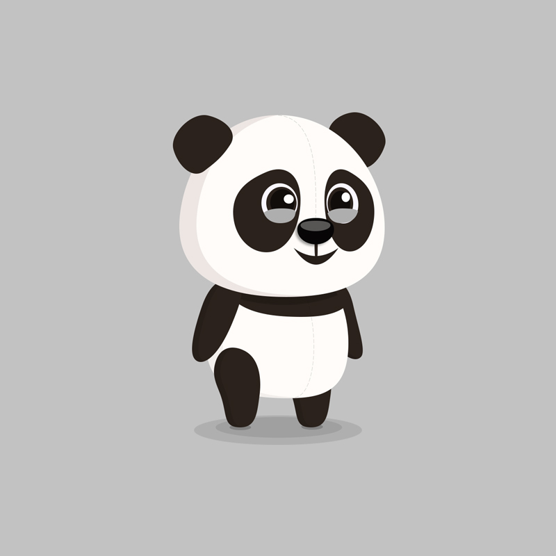 Panda - Children's educational game vector character design