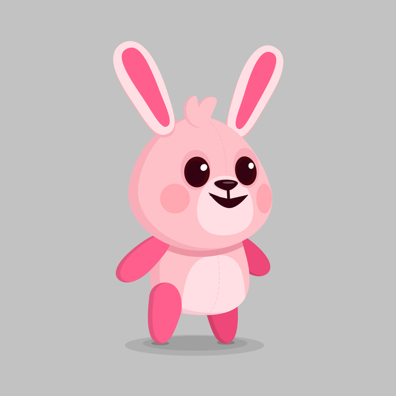 Rabbit - Children's educational game vector character design