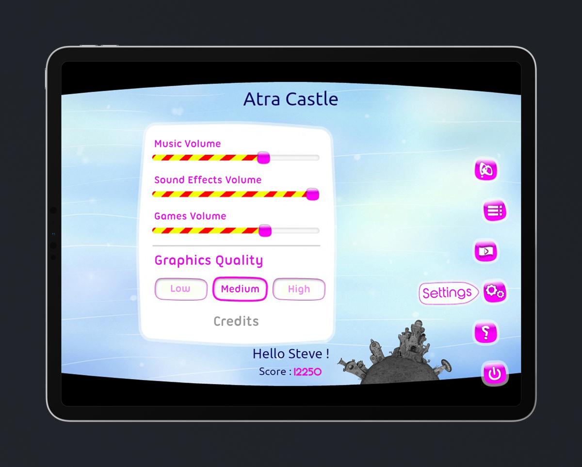 Kids Educational Game UI Design 4 Settings