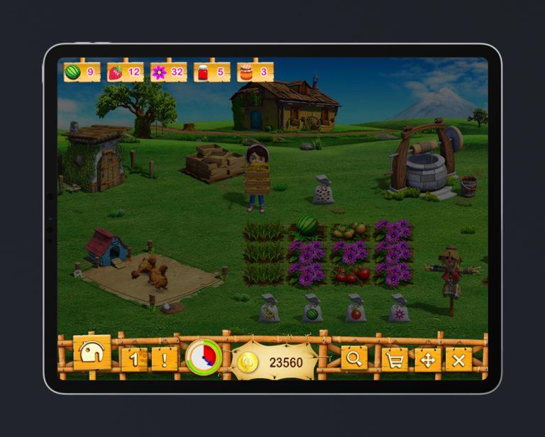 Kids Educational Game UI Design Wood Style 5 HUD