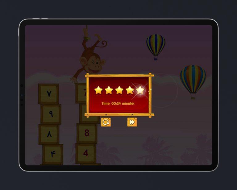 Kids Educational Game UI Design Wood Style 8 Result Menu
