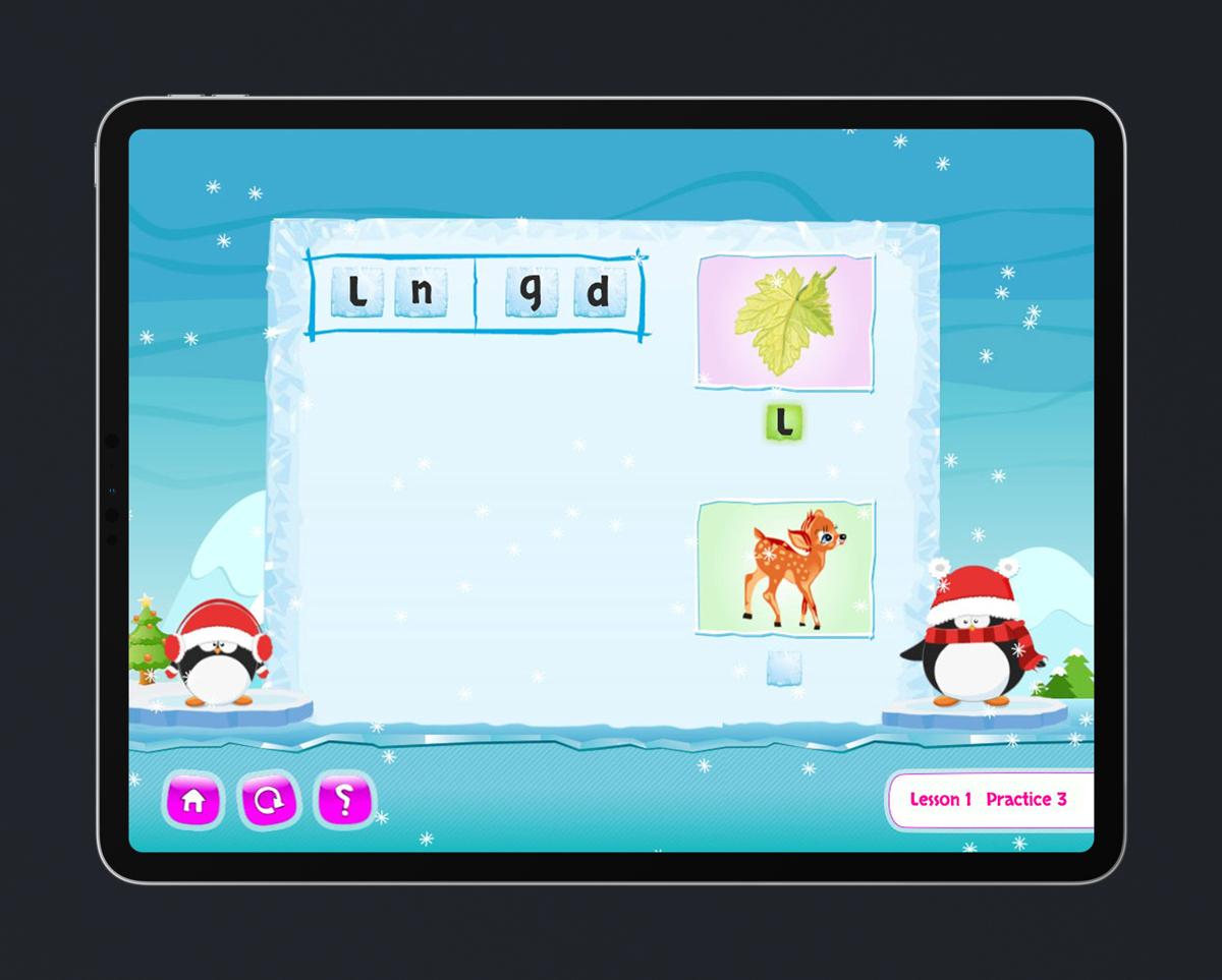 Children's English educational game design & development