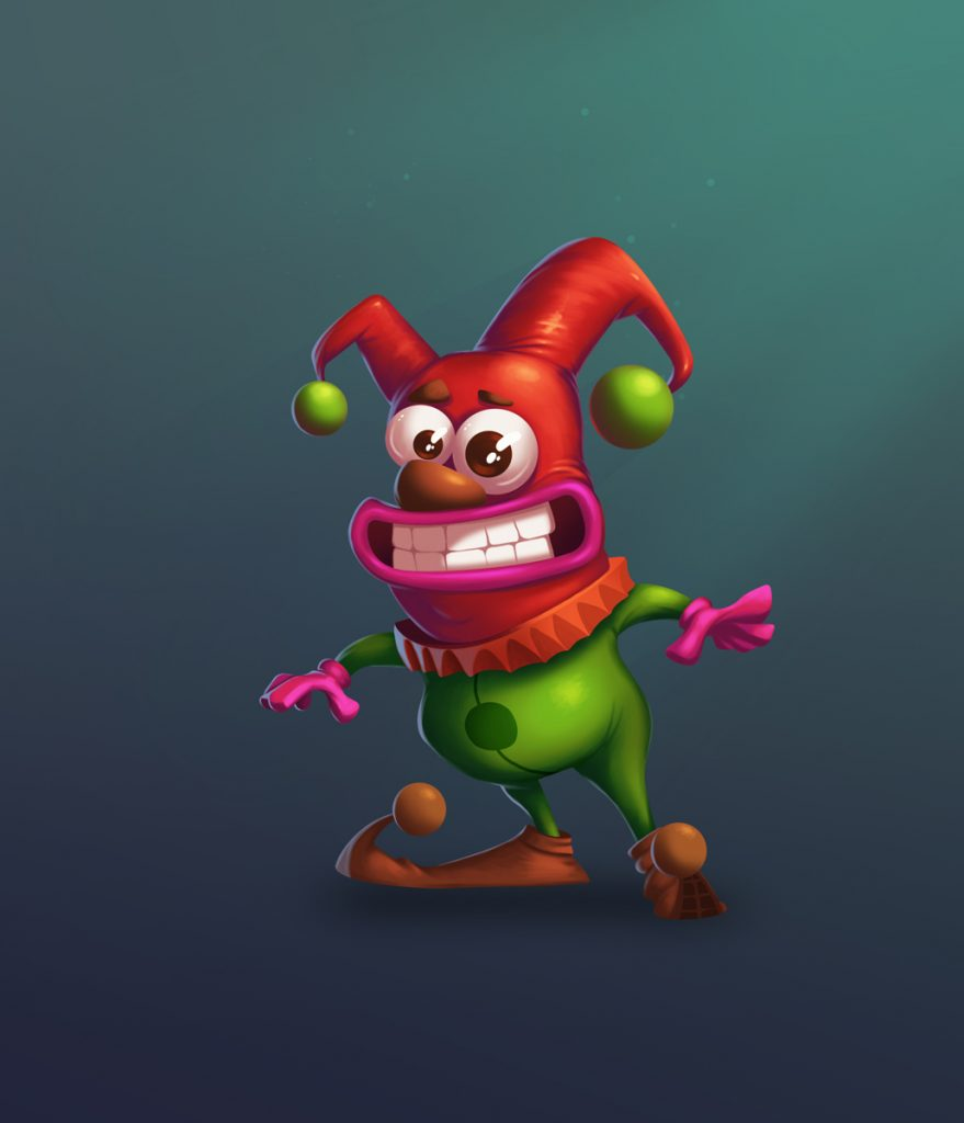 Little Clown 2D Game Character Design