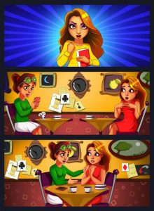 Match 3 Mobile Game Comic Strip 2