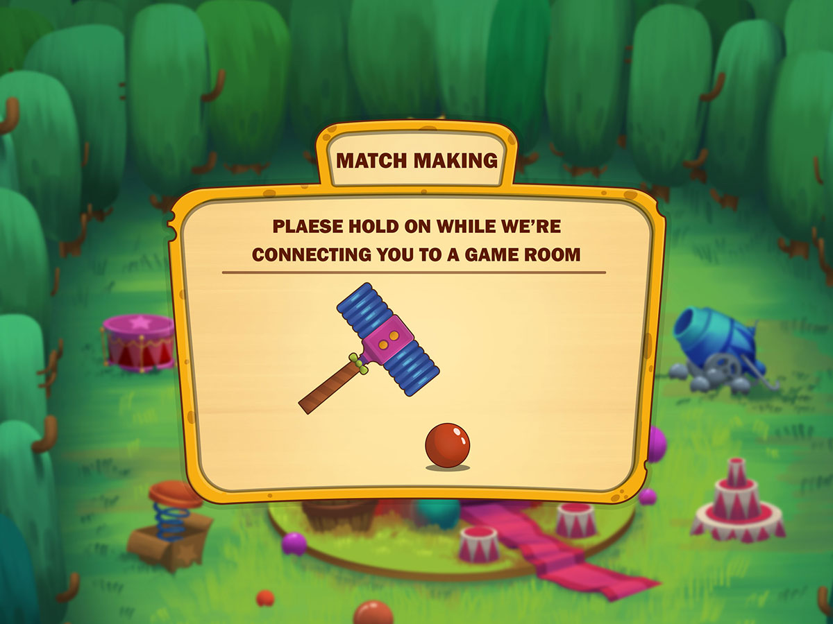 Cartoon Mobile Game UI Design - Match Making Popup