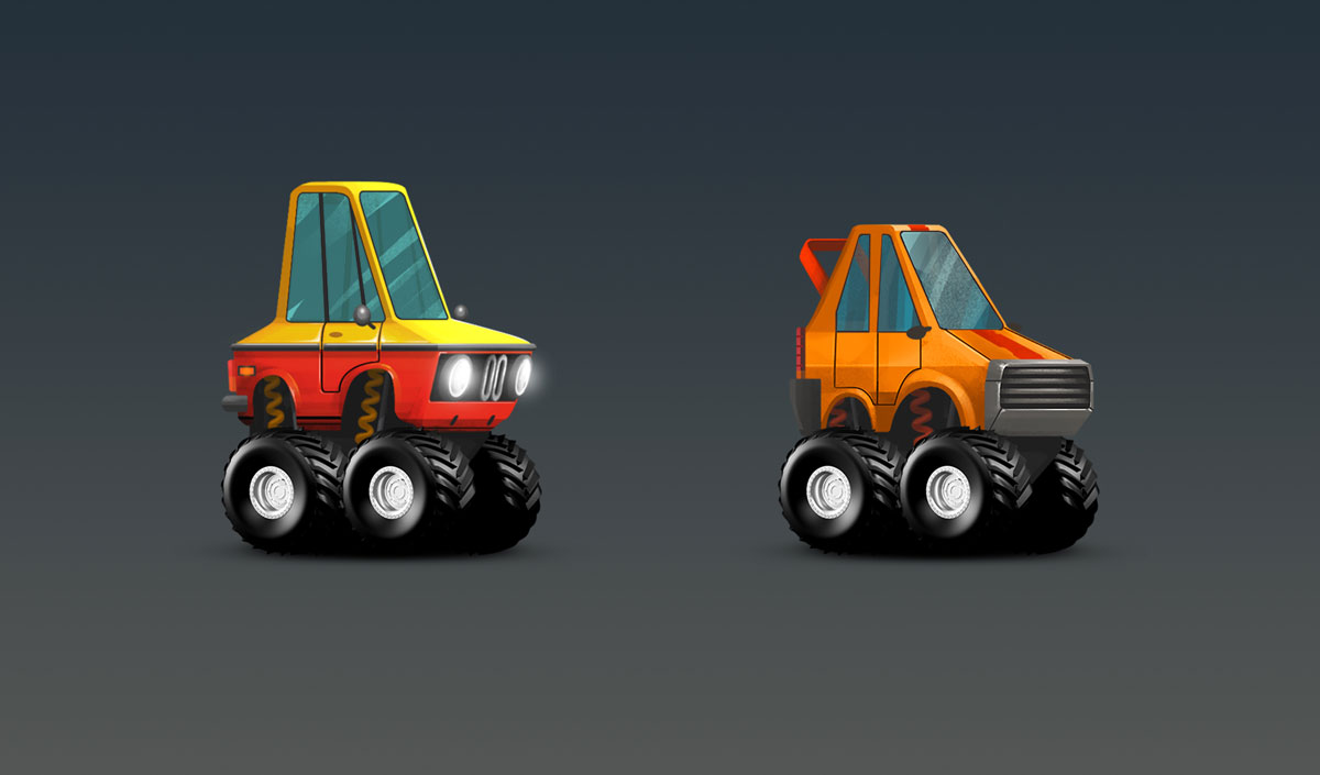 Minimalist Cars With Big Wheels Design Game Car Design 1