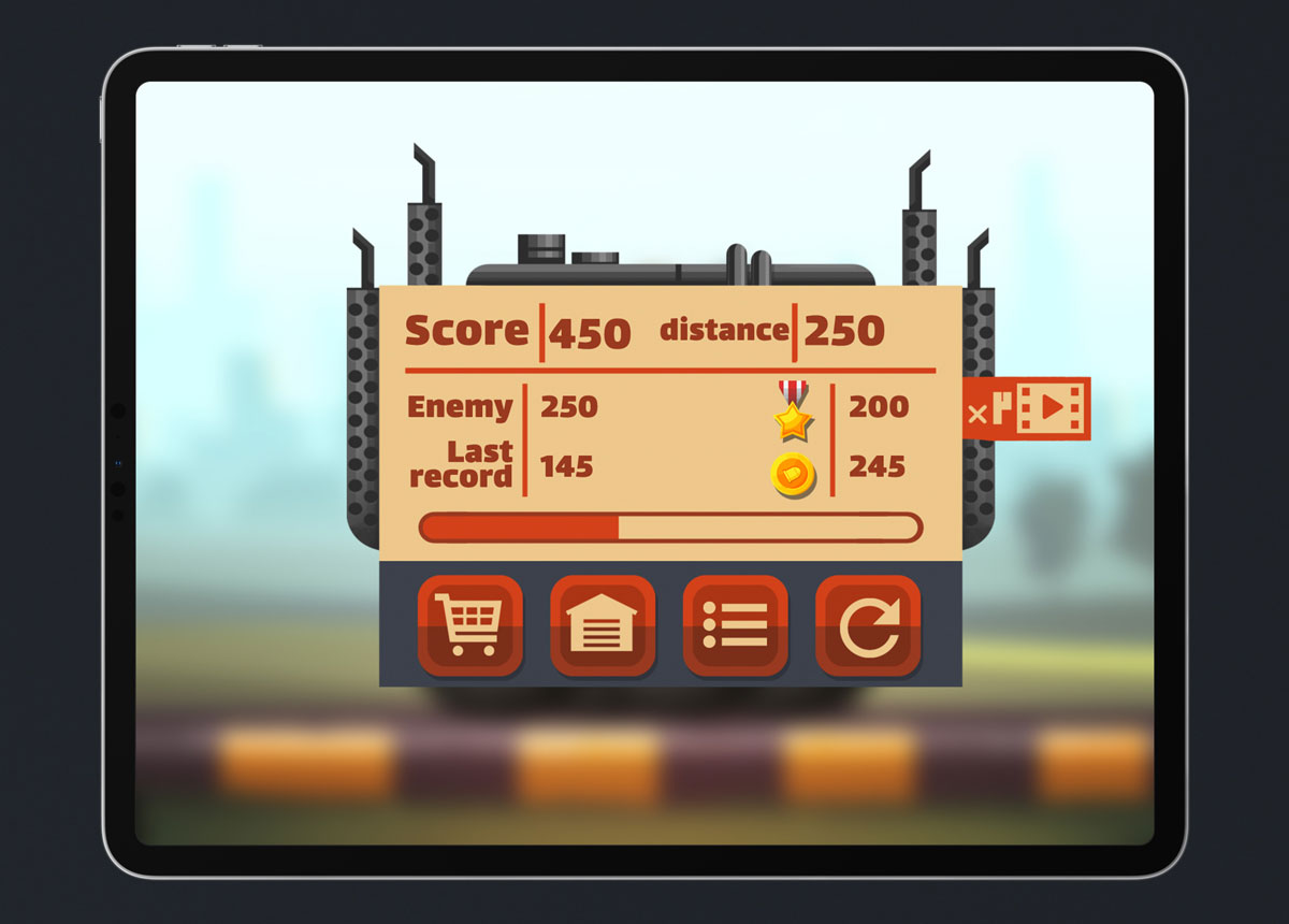 Mobile Game Material UI Design - Level Complete Popup
