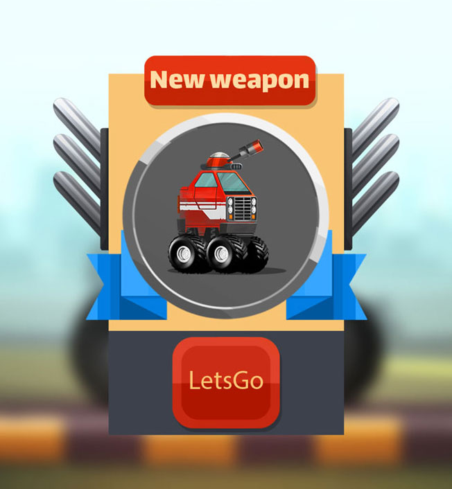 Mobile Game Material UI Design - New Weapon Unlocked Popup