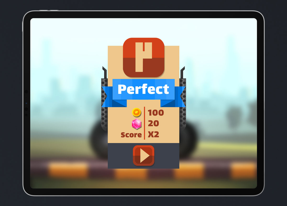 Mobile Game Material UI Design - Level Up Popup