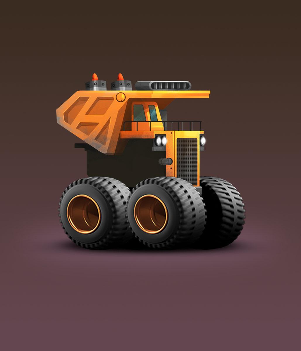 Old Truck Minimalist Design Game Car Design 2