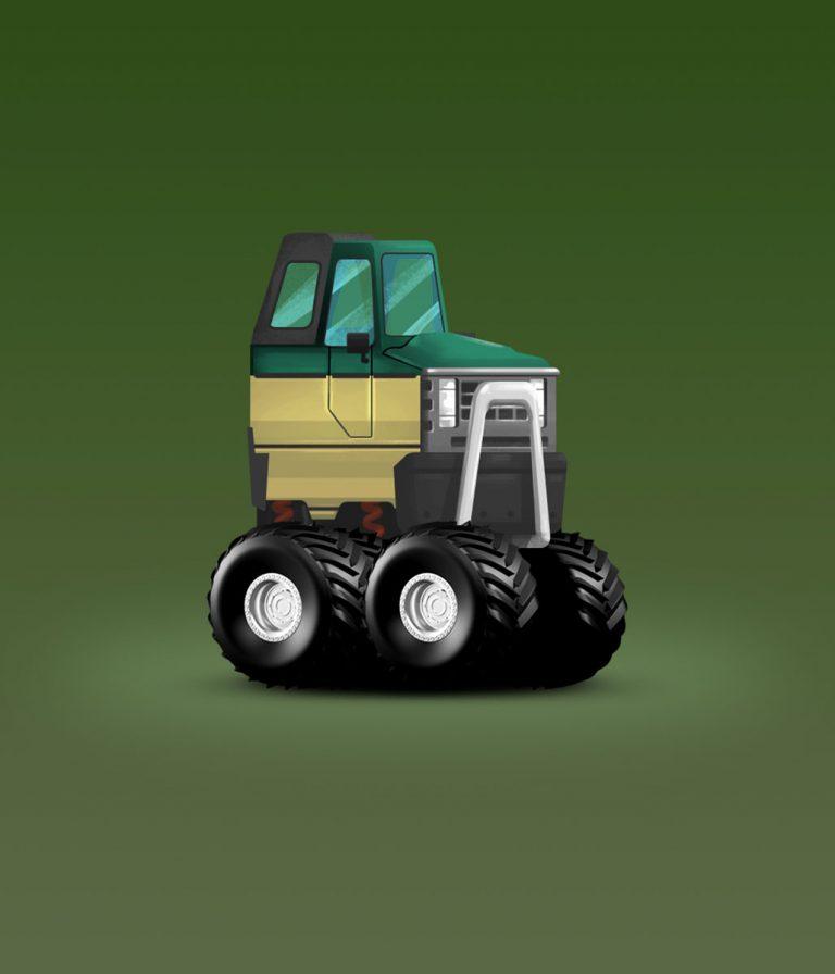 Patrol Minimalist Design Game Car Design