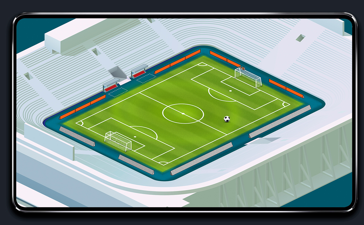Soccer Mobile Game Isometric Environment Design