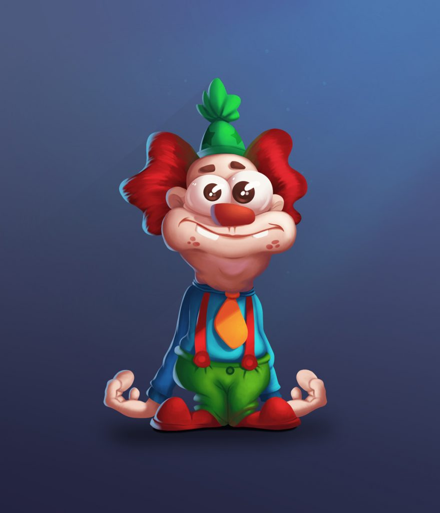 Stupid Clown 2D Game Character Design