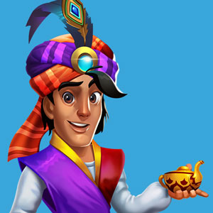 Slot Game Aladdin Character Design Thumbnail