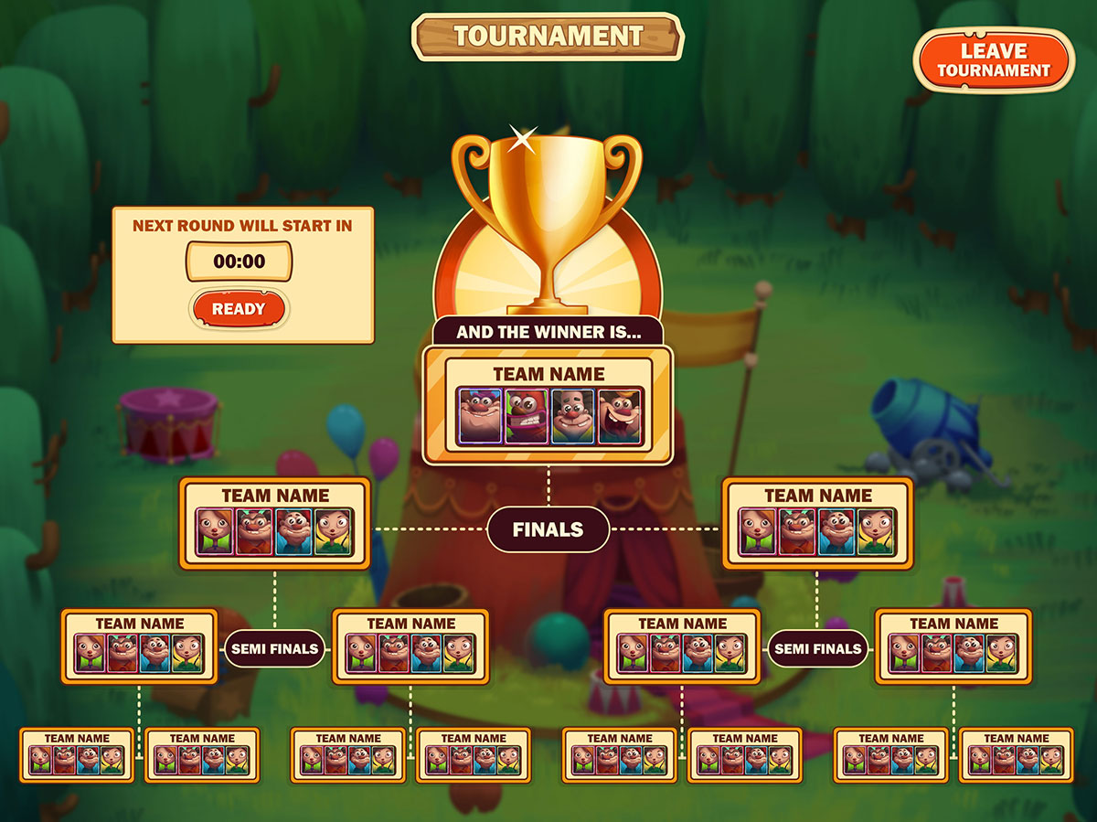 Tournament UX UI Game