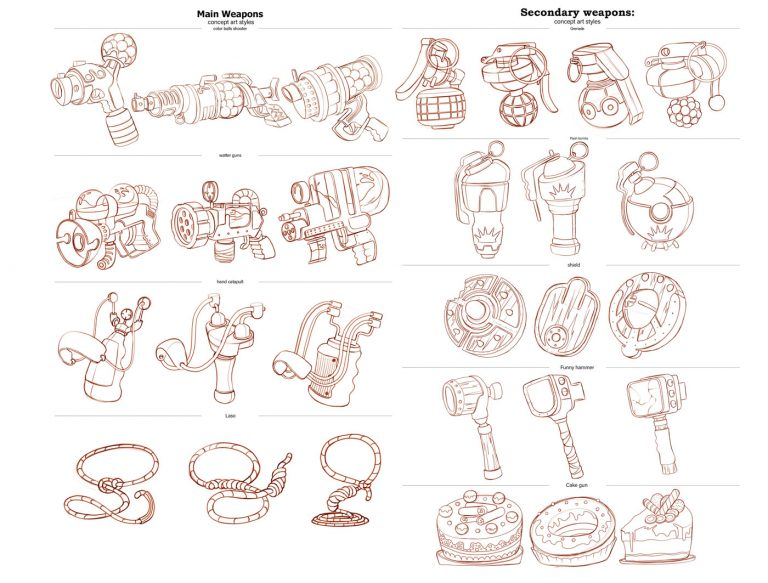 Game Weapons Sketches, Ideas and Inspirations