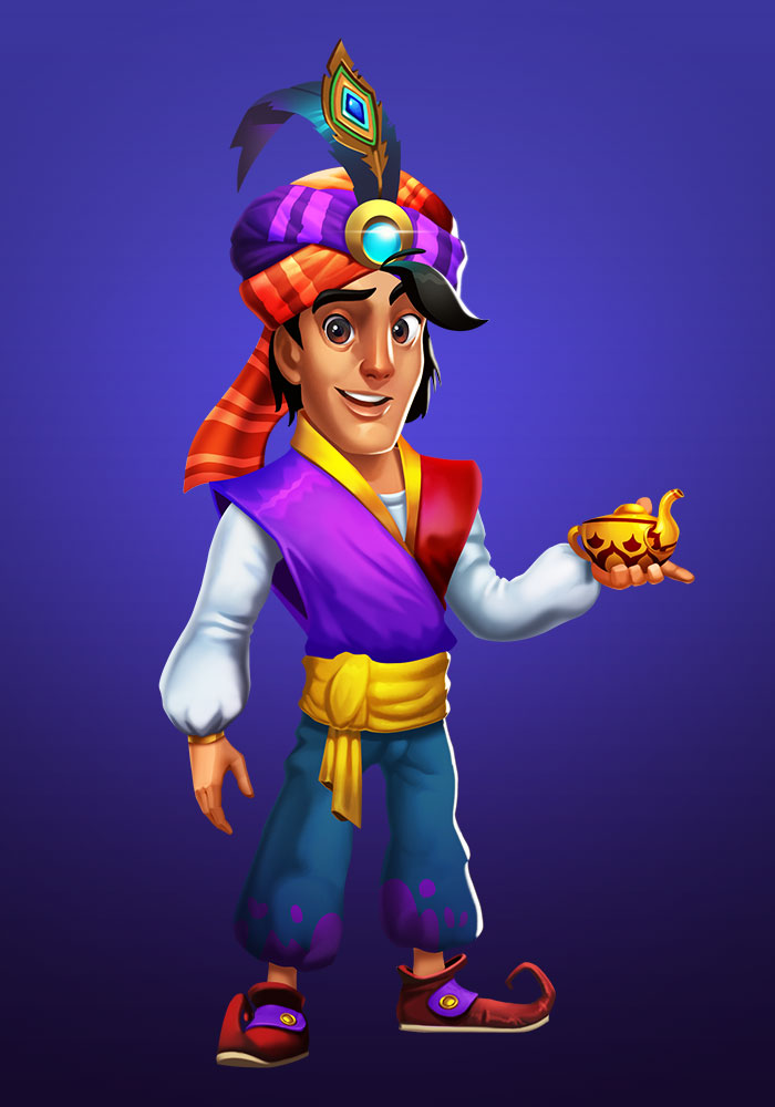 Slot Game Aladdin Character Design