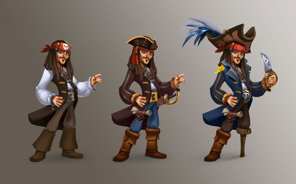 Jack Sparrow 2d Slot Game Character Design