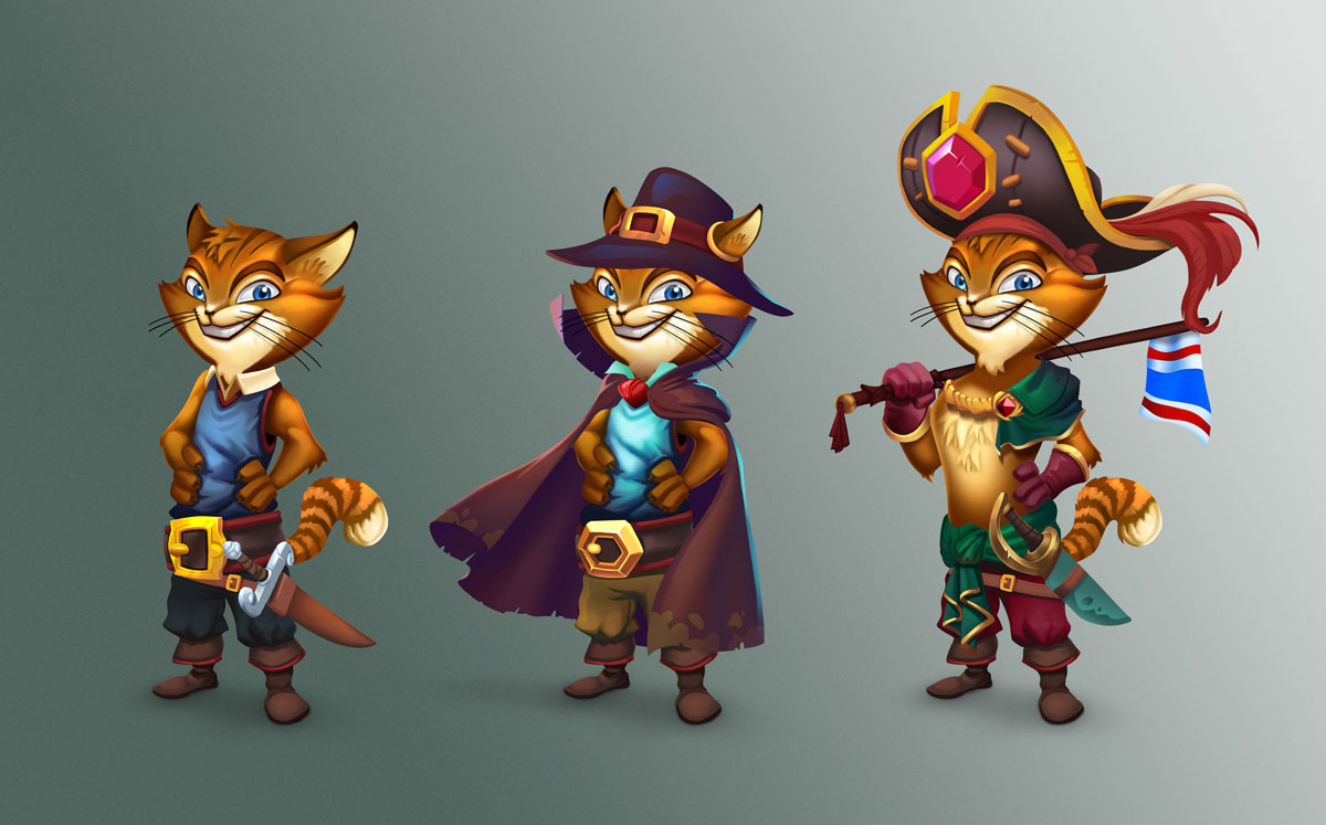 Puss In Boots 2d Slot Game Character Design