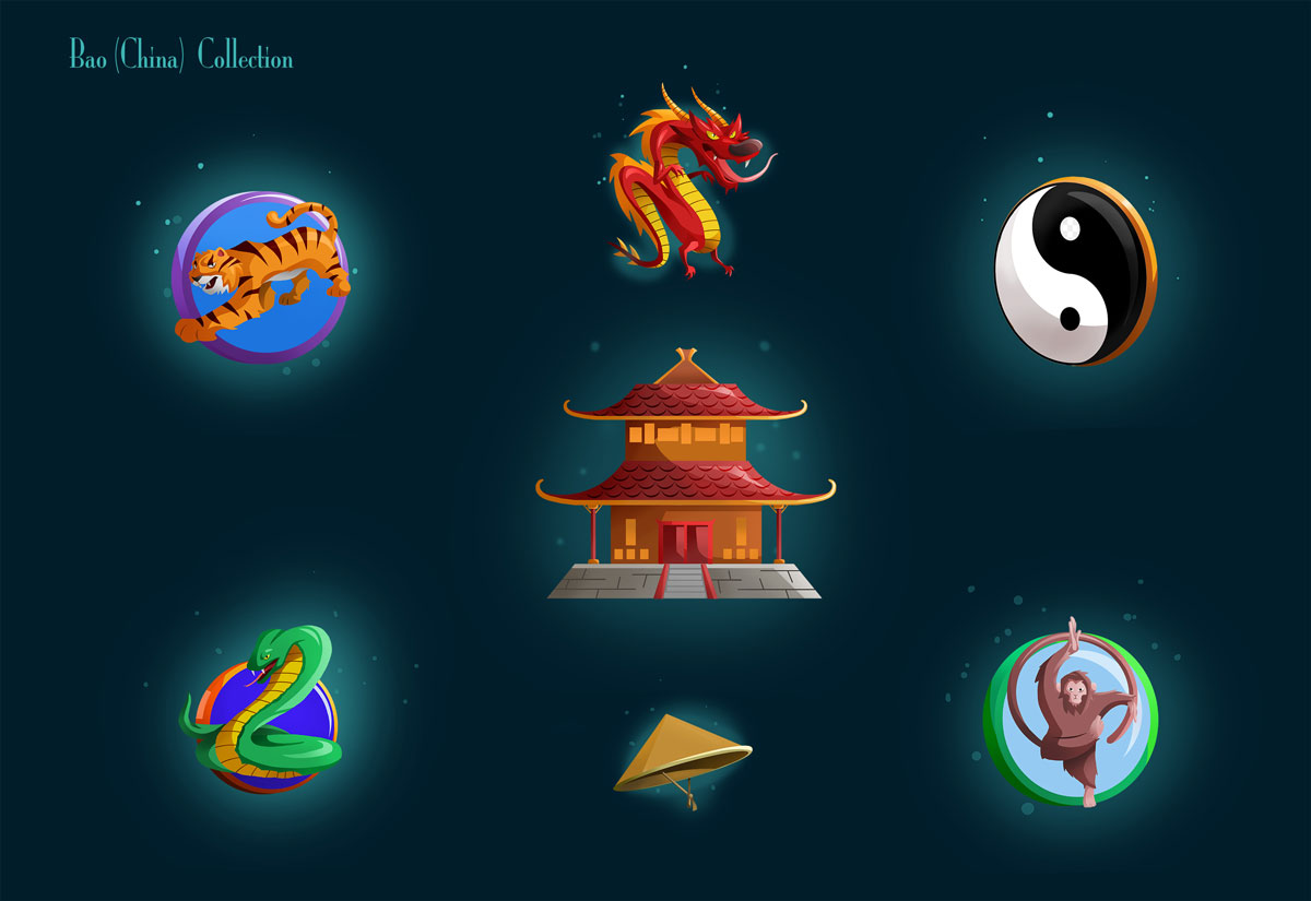 Slot Game China Bao Icon Designs