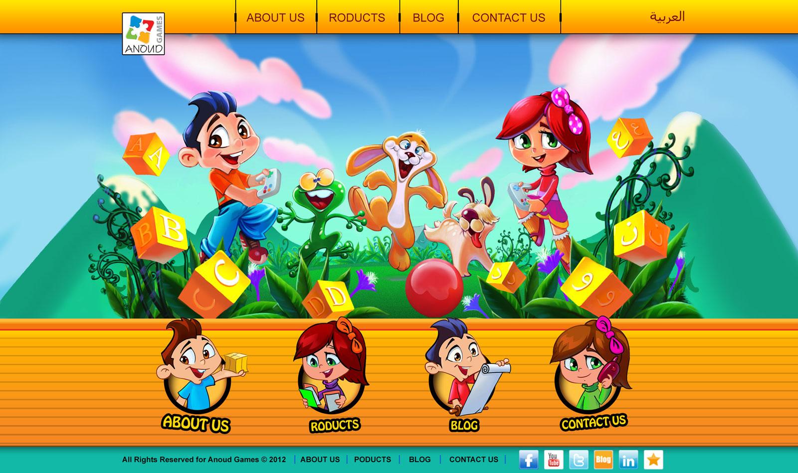 Boy, Girl, Rabbit, Frog, Dog, Children's Mascot Design