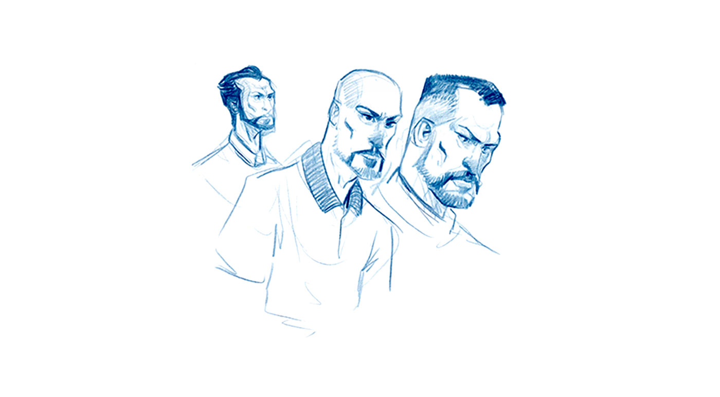 Soccer Players Game Character Drawing Sketches