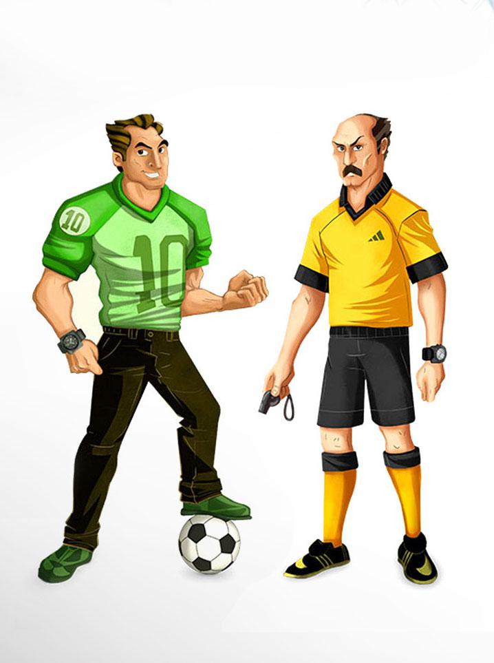 Soccer Mobile Game Art Design