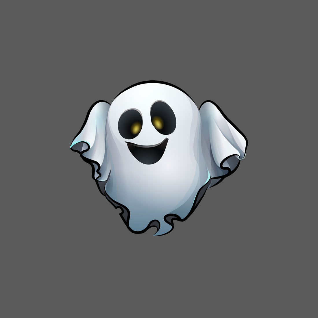 Funny ghost - 2D mobile game character design