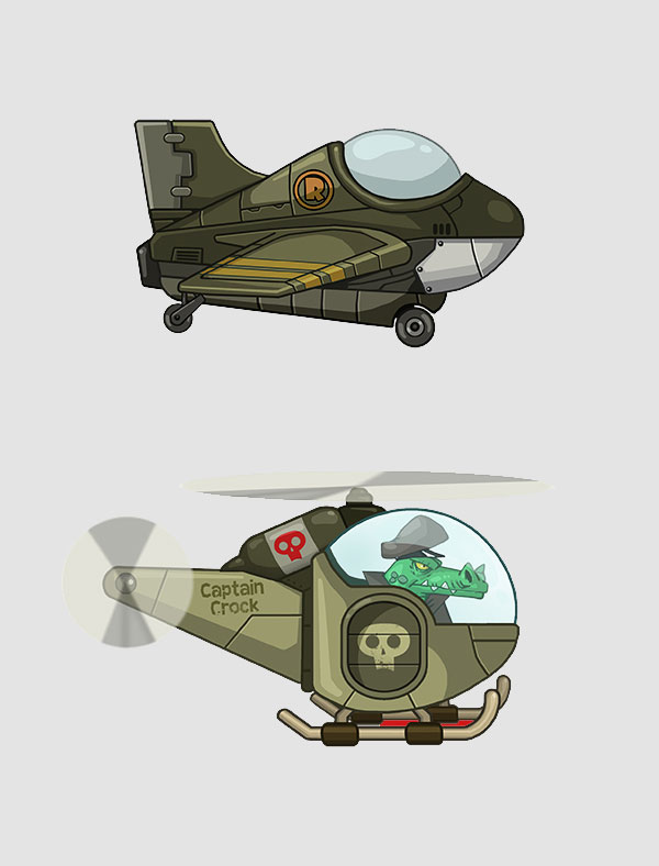 Mobile Action Game 2D Aircraft Design