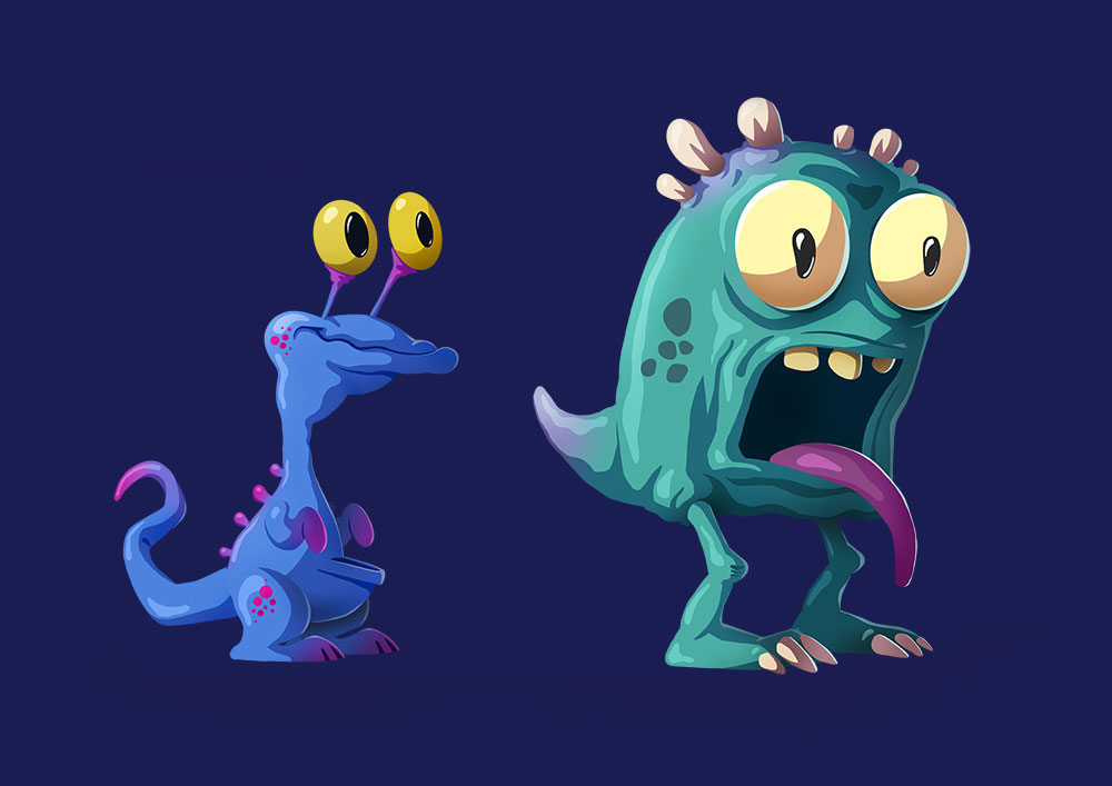 Cartoon monsters - 2D game character design