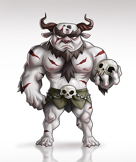 Mythical monster warrior - Fighting 2D Mobile Game Character Design