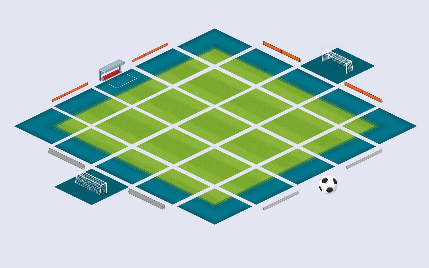 Soccer Stadium Isometric Game Tilesets