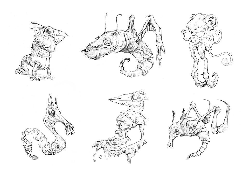 Surreal Creatures Drawing Sketches